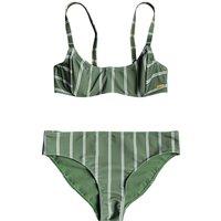 Bademode - Roxy Body UW Bra Reg Bikini Set vneyrd green will stripes  - Onlineshop Blue Tomato