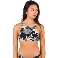 Bademode - Roxy PT Beach Classics Crop Top Bikini Top anthracite praslin s  - Onlineshop Blue Tomato