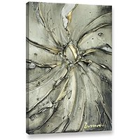Gray fine art PRINT (no texture) on stretched canvas, ready to hang Large 24x36