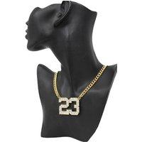 Women Gold Metal Chain Fashion Necklace Number # 23 Jordan Bling Pendant Hip Hop