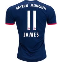 All New James Rodriguez #11 Bayern Munchen Away 2017-2018 Men Soccer Jersey