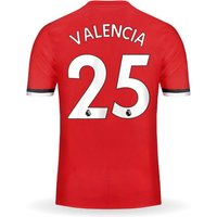 New VALENCIA #25 Manchester United Home 17/18 Men Soccer Jersey + EPL Patches