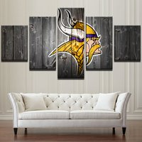 5 Pcs Minnesota Vikings Poster Wall Picture Home Decor Printed Canvas Painting