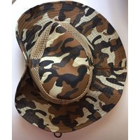 Hat Bonnie Western Camouflage Brim Snaps Up Mesh Sun Hunting Fishing Summer New