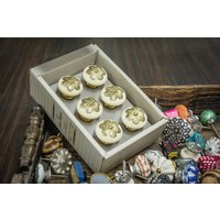 casa-decor-filigree-flower-design-ceramic-drawer-cabinet-knob-pull-pack-of-6