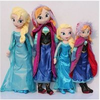 30cm/40cm/50cm Disney-Frozen-Elsa&Anna princess stuffed Soft plush toy doll for+