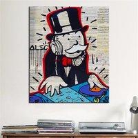 New Fashion DJ Alec Monopoly Graffiti Arts Print Canvas Oil Painting 70x90cm