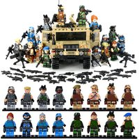 HL Military War Vehicle Hummer H1 3D Military Equipment minifigure blocks lego T