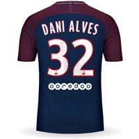 All New Dani Alves #32 Paris Saint Germain Psg Home 17/18 Men Soccer Jersey