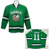 #11 Zach Parise North Dakota Fighting Sioux Hockey Jersey Double Stitched Green