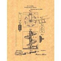 Folding Spiral Stairs Patent Print