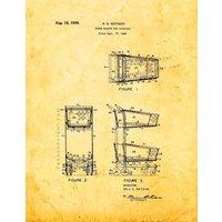 Shopping Cart Patent Print - Golden Look