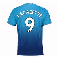 Alexandre Lacazette #9 Arsenal 2017/18 Away Men Jersey
