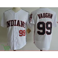 The Major League Movie Baseball Cleveland Indians Jersey #99 Rick Vaughn -white