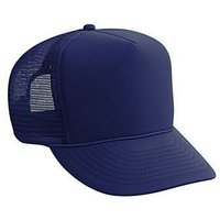 otto-polyester-foam-front-five-panel-high-crown-mesh-back-trucker-hat-color-nav