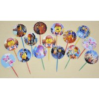 15-lego-movie-cupcake-toppers-birthday-party-favors-15-double-sided