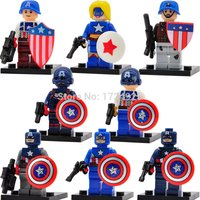 SA set Captain America Civil War Figure 8pcs Marvel Superheroes minifigure block