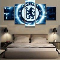 5 Panels FC Chelsea Football Canvas Prints Painting Wall Art Sport Home Decor