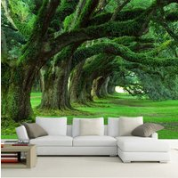 custom-3d-green-forest-moss-trees-wallpaper-for-home-or-business-photo-mural