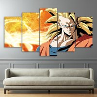 Dragon Ball Z Anime Paintings  5 Piece Canvas Art Wall Art Picture Home Decor