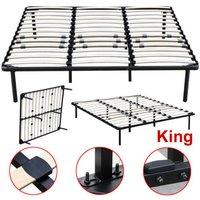 king-size-wood-slats-metal-bed-frame-platform-bedroom-mattress-foundation-base