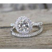 1.50 Ct Round Cut White Diamond 14k Real White Gold Wedding & Engagement Ring