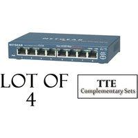 lot-of-4-netgear-prosafe-fs108na-8-port-fast-ethernet-switch-fs108na