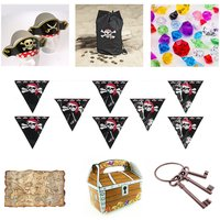 pirate-party-theme-favors-hats-treasure-map-banner-bags-chest-shaped-boxes-child