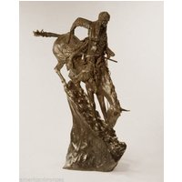Mountain Man Solid Bronze Collectible Sculpture Statue by Remington Monumental