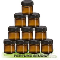amber-glass-jars-with-black-screw-lids-25-ml-10-jars-many-uses