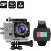 1080P Sports Action Camera - 30M Waterproof - Full HD - Remote Control - Wifi