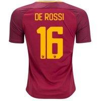 All New Daniele De Rossi #16 As Roma Home 2017-2018 Men Soccer Jersey