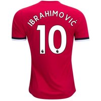 New IBRAHIMOVIC #10 Manchester United Home 17/18 Men Soccer Jersey + EPL Patches
