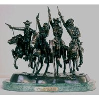 "Frederic Remington Solid American Bronze ""Coming Through the Rye"" Medium"