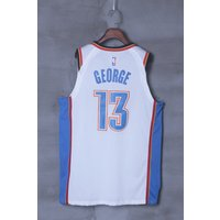 17 - 18 New Season Oklahoma City Thunder Okc Paul George White Jersey