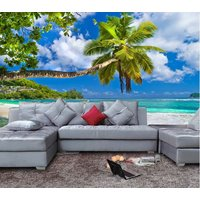 3d-stereoscopic-palm-tree-ocean-beach-wallpaper-mural-wall-art-three-dimension