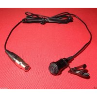 Cardioid Lapel Lavalier Clip Microphone For AKG Samson - XLR 3Pin mini