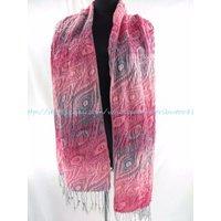 US SELLER- Fashion Scarves boho geomatrical leaf winter thick scarves neckwarmer