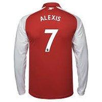 Alexis Sanchez #7 Arsenal 2017/18 Home Men Long Sleeve Jersey