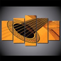 5 Pcs Classical Vintage Guitar Wall Picture Home Decor Printed Canvas Painting