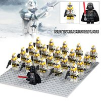 21pcs Darth Vader with Stormtrooper yellow minifigures building blocks toys lego