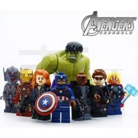 New 8pcs/lot The Avengers Minifigures Building Toys Hulk Captain America