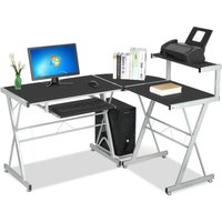 l-shape-corner-computer-desk-w-sliding-keyboard-tray-top-shelf-workstation-black