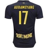 All New Aubameyang #17 Borussia Dortmund Away 2017-2018 Men Soccer Jersey