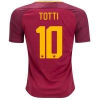 All New Francesco Totti #10 As Roma Home 2017-2018 Men Soccer Jersey