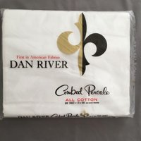 nos-dan-river-twin-flat-sheet-cotton-combed-percale-white-vtg-nip