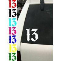 Lucky Number 13 Decal Vinyl Car Window Motorcycle Tattoo Sticker # ANY COLOR