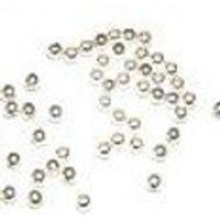 -S4-1,000 4mm Seamless round Beads .925 Sterling Silver 1mm Hole