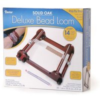Bulk Buy: Darice DIY Crafts Deluxe Bead Loom Solid Oak 15 x 14 x 3.5 inches (...