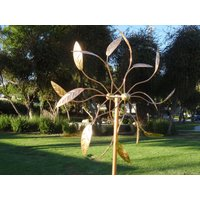 pure-copper-outdoor-kinetic-large-handmade-wind-sculptures-dual-spinners-new